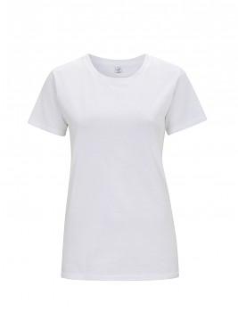 Dámské tričko s krátkými rukávy z 100% biobavlny - bílá