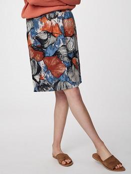 LYME dámská sukně z konopí a rayonu - šedá mushroom