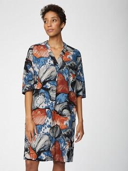 LYME dámské šaty z konopí a rayonu - šedá mushroom