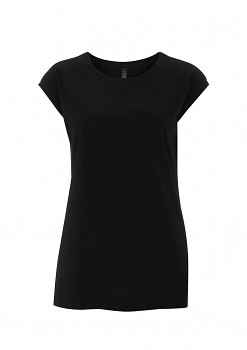 Dámské tunikové tričko z tencelu a biobavlny - černá