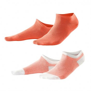 ABBY dámské kotníkové ponožky z biobavlny - oranžová (2 páry)