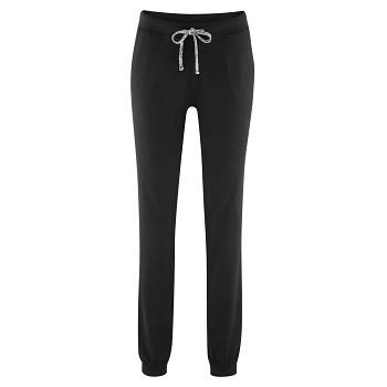 BEA dámské teplákové kalhoty z biobavlny - černá