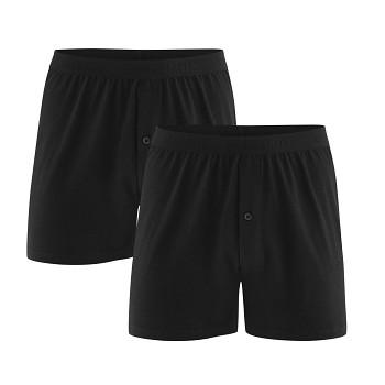 ETHAN pánské boxerky ze 100% biobavlny - černá (2 ks)