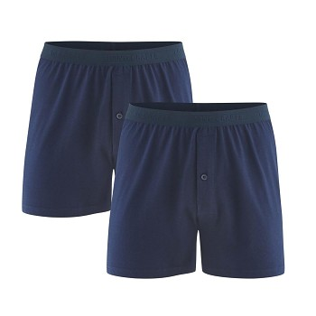 ETHAN pánské boxerky ze 100% biobavlny - tmavě modrá navy (2 ks)