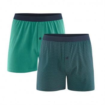 ETHAN pánské boxerky ze 100% biobavlny - zelená (2 ks)