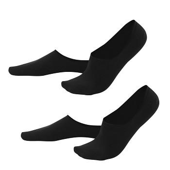 IKER pánské neviditelné ponožky z biobavlny - černá (2 páry)