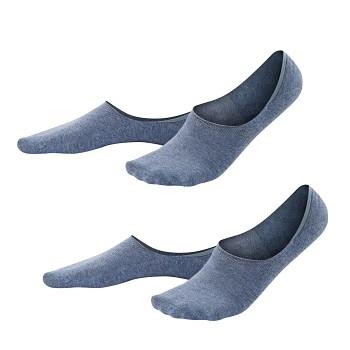 IKER pánské neviditelné ponožky z biobavlny - světle modrá infinity  (2 páry)