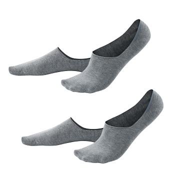 IKER pánské neviditelné ponožky z biobavlny - světle šedá stone  (2 páry)