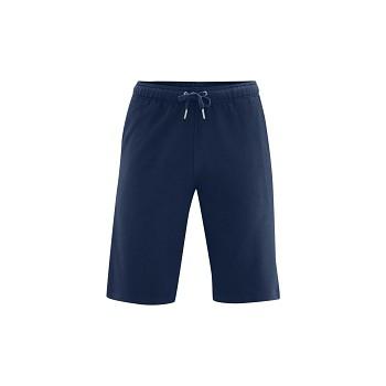 CHARLIE pánské teplákové šortky ze 100% biobavlny - tmavě modrá navy