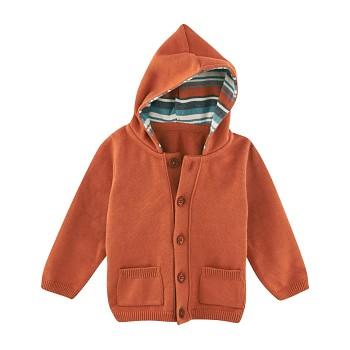 HUPPY Dětská bunda ze 100% biobavlny - oranžová