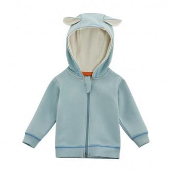 FLAXI Dětská bunda ze 100% biobavlny - světle modrá aqua
