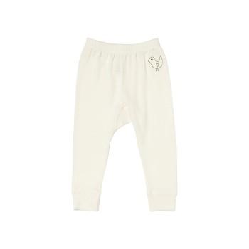 BIRDIE Kojenecké kalhoty z bio merino vlny a hedvábí - přírodní