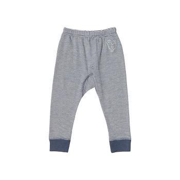 BIRDIE Kojenecké kalhoty z bio merino vlny a hedvábí - modrý proužek