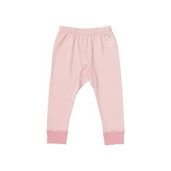 BIRDIE Kojenecké kalhoty z bio merino vlny a hedvábí - růžová proužek