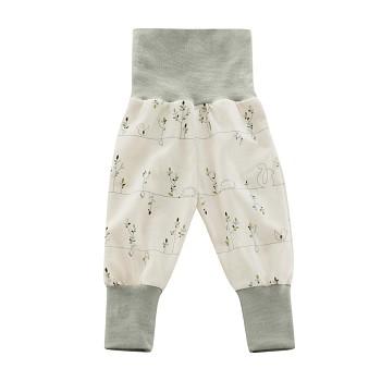 DIEGO Kojenecké kalhoty ze 100% biobavlny - přírodní