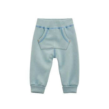 FROGGY Dětské kalhoty ze 100% biobavlny - modrá aqua
