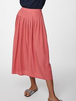 ANGELA dámská sukně ze 100% tencelu - růžová sorbet