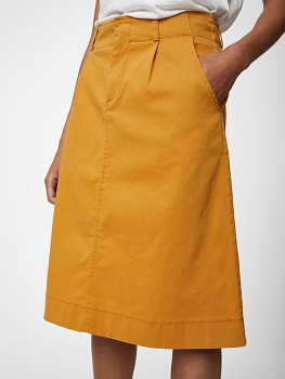 JUSTINE dámská sukně z biobavlny - žlutá šafránová