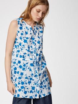ANGELLICA dámská košile bez rukávů ze 100% biobavlny - bílá