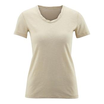 ALEXANDRA Dámské tričko s krátkými rukávy ze 100% biobavlny - písková