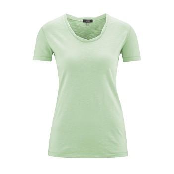 ALEXANDRA Dámské tričko s krátkými rukávy ze 100% biobavlny - mátová