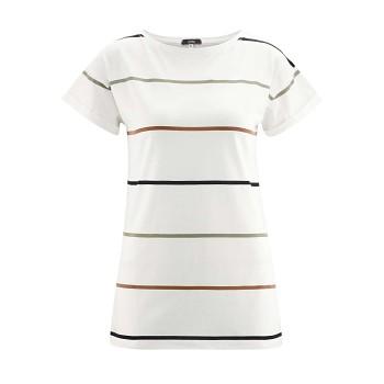 IDONY Dámské tričko s krátkými rukávy z bambusu a biobavlny - bílá