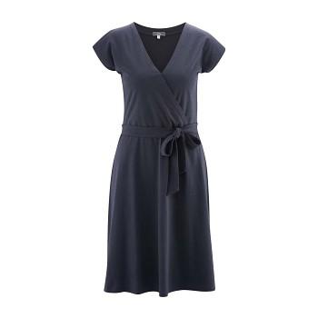 IVETTE Dámské šaty z bambusu a biobavlny - tmavě modrá ink