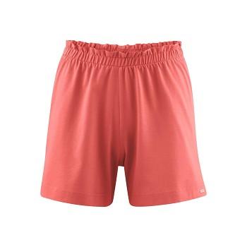 IVA dámské pyžamové šortky ze 100% biobavlny - červená