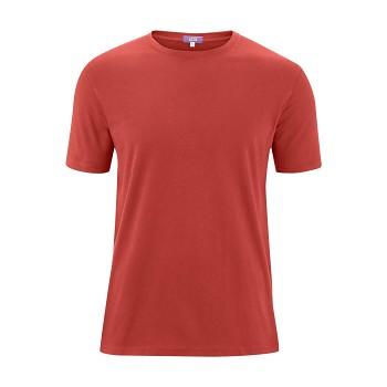 ILKO Pánské tričko s krátkými rukávy ze 100% biobavlny - červená rosso