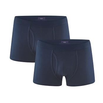 APOLLO pánské boxerky z biobavlny - tmavě modrá navy (2 ks)