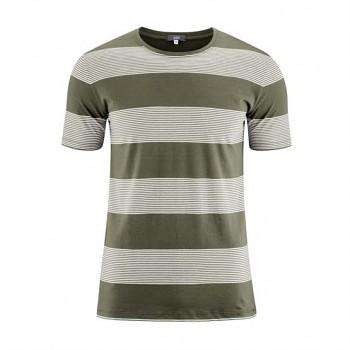 INO Pánské tričko s krátkými rukávy ze 100% biobavlny - olivová