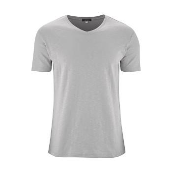 GLEN Pánské tričko s krátkými rukávy ze 100% biobavlny - šedá rock