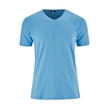 GLEN Pánské tričko s krátkými rukávy ze 100% biobavlny - světle modrá