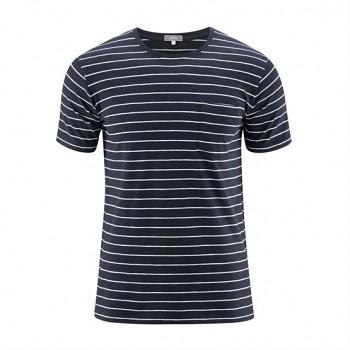 IGNACIO Pánské tričko s krátkými rukávy ze 100% biobavlny - modrá ink