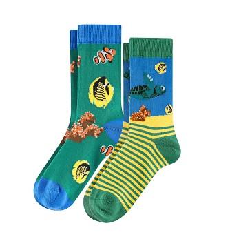 BEAR Dětské ponožky z biobavlny (2 páry)  - modrá (želvičky)