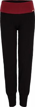 Comazo Earth Dámské úpletové kalhoty na jógu z biobavlny - černá/chianti