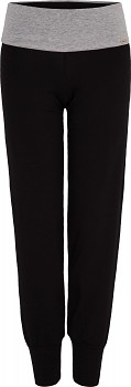 Comazo Earth Dámské úpletové kalhoty na jógu z biobavlny - černá/šedá