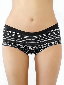 BOY dámské kalhotky (boxerky) z biobavlny - černý vzor