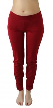 Albero dámské kalhoty na jógu z biobavlny - červená