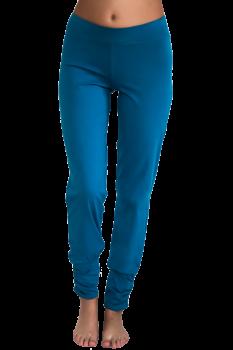 Albero dámské kalhoty na jógu z biobavlny - modrá petrol