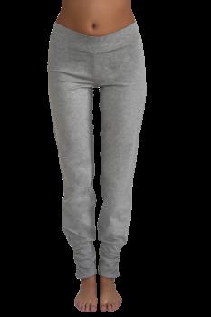 Albero dámské kalhoty na jógu z biobavlny - šedá melange