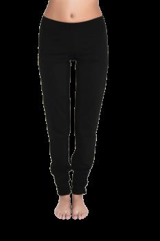 Albero dámské kalhoty na jógu z biobavlny - černá