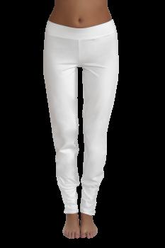 Albero dámské kalhoty na jógu z biobavlny - bílá