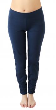 Albero dámské kalhoty na jógu z biobavlny - modrá navy