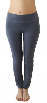 Albero dámské kalhoty na jógu z biobavlny - modrá navy melange