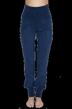 Albero dámské teplákové kalhoty z biobavlny - modrá navy