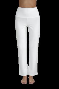 Albero dámské teplákové kalhoty na jógu z biobavlny - bílá