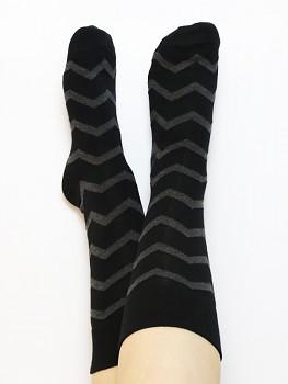 Ponožky ze biobavlny - šedá antracit