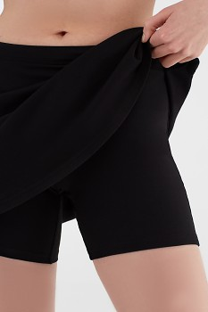 Albero dámské úpletové šortky se sukní z biobavlny - černá
