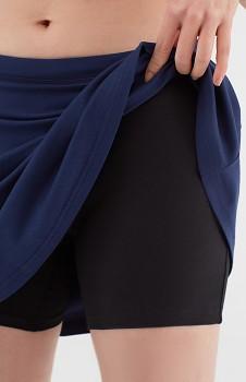 Albero dámské úpletové šortky se sukní z biobavlny - modrá navy
